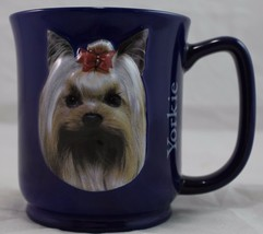 Yorkshire Yorkie Terrier 3D Coffee/Tea Mug Cup Encore Paw Print Blue - $13.86