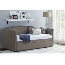 Twin Daybed with Trundle Upholstered Sofa Bed M... - $370.11