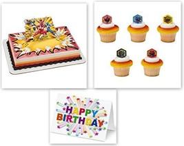 Power Rangers Morphin Time Cake Topper PLUS 12 Matching Cupcake Rings Pl... - $19.75