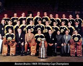 NHL 1969 -70 Boston Bruins Stanley Cup Champions  Color 8 X 10 Photo - $6.99
