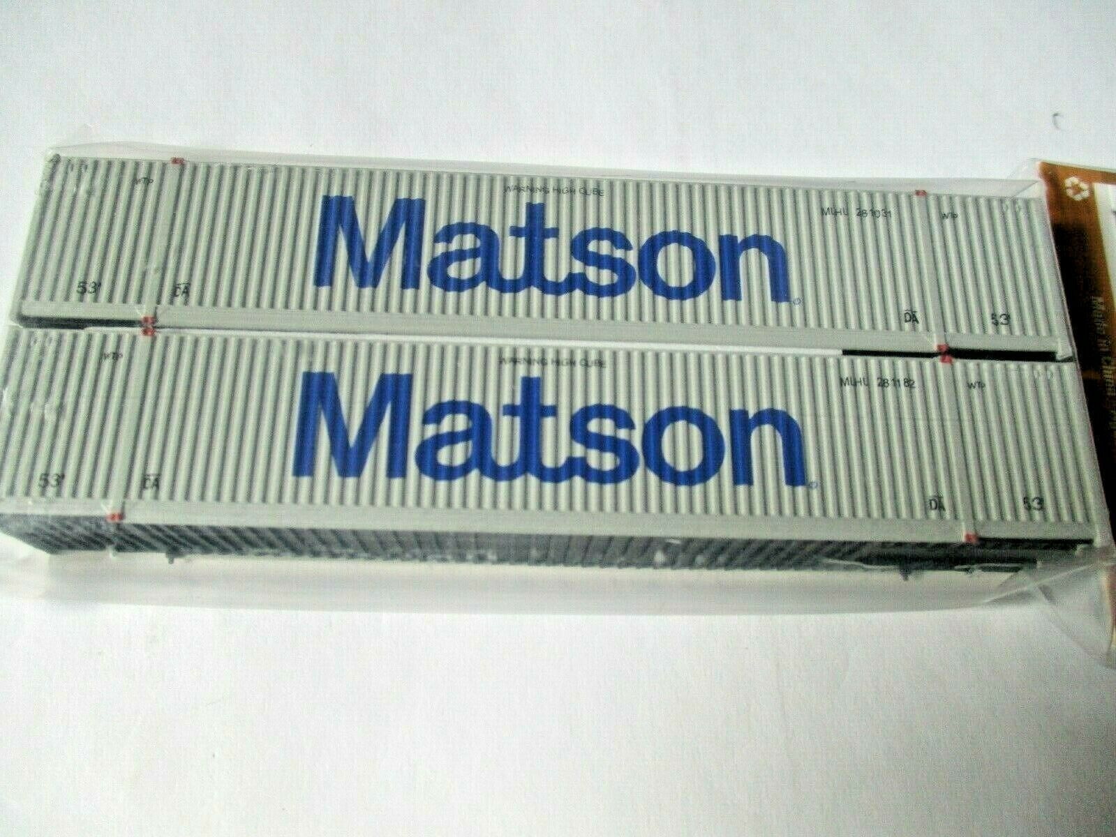 Jacksonville Terminal Company # 537011 Matson 53' Container 2 Pack  N-Scale