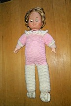 Vintage Fisher Price doll 1978 my sleepy baby sleep eyes in crochet outfit - $29.70