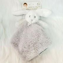 Blankets & Beyond Bunny Rabbit Lovey & Security Blanket Gray White Nunu ... - $59.99