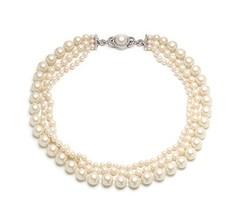 Carolee Silvertone Three Row Pearl Necklace - $85.07