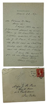 Grover Cleveland Handwritten Signed 1891 Letter w/ Envelope BAS A67845 - $1,959.02