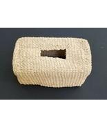 Tissue Box Cover Bath Bedroom Decor Straw Raffia Woven  - $18.99