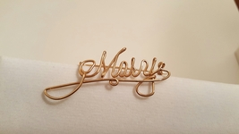 Vintage Handmade Gold Tone Script Mary Name Pin - $24.00