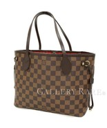 LOUIS VUITTON Neverfull PM Damier Canvas Ebene N51109 Tote Bag Authentic... - $991.23