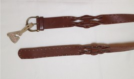American Rag Women's Braised Faux Leather Belt ARA07 Oxford Tan Medium - $7.99