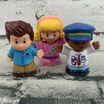 Fisher Price Little People Replacement Figures Lot Of 3 Pilot Boy In Blu... - $11.88