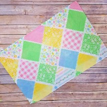 Vtg Floral Pillow Case Colorful Patch Gingam Plaid Pastel Polka Dot Striped - $12.95