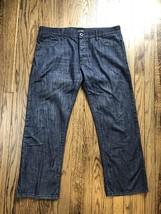 Giorgio Armani Jeans Mens 100% Cotton Straight Jeans Size 36 x 28 - $1.300,07 MXN