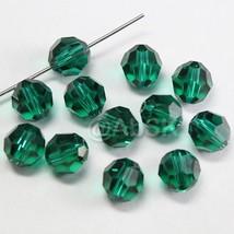 12 pcs Swarovski Element 5000 8mm Faceted Round Balls Bead Crystal EMERALD - $5.36