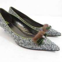 Coach Olive Trimmed Tweed Kitten Heels - $70.13