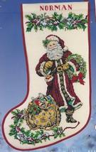 Candamar Spirit of Christmas Old Style Santa Cross Stitch Stocking Kit 51331 E - $74.95