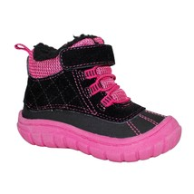 Garanimals Baby Girls Fur Boots Size 5 Black & Pink Color NEW - £12.44 GBP