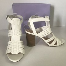 Madden Girl Reine Sandal Shoes Size 10 White Boho Block Heel Huarache NEW IN BOX - $27.71