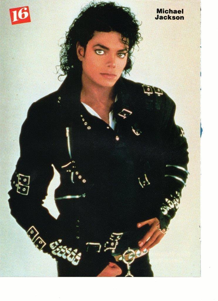 Michael Jackson Chris Young teen magazine pinup clipping ruff black jacket