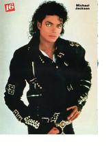 Michael Jackson Chris Young teen magazine pinup clipping ruff black jacket