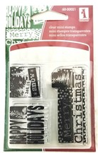 Inkadinkado Mini Happy Holidays Stamp Set #60-30021 - $4.45