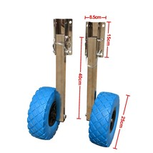 Stainless Steel Boat Transom Launching Wheel Dolly For Inflatable boat image 1