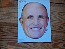 Political Paper Mask 2008  free ship additional masks Rudy Giuliani  - $19.56 CAD