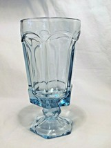 set of 8 Fostoria crystal glass LIGHT BLUE VIRGINIA Ice TEA cups glasses - $38.99