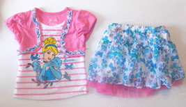 Disney Princess Cinderella   Girls  2pc  Outfit Sizes 5 and 6 NWT - $24.99