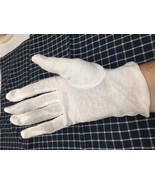 lot of 10 pairs white cotton inspection gloves - $4.95