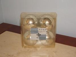 new in box chesapeake bay candle metallics christmas set of 4 round ball... - $7.91
