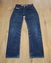 Blue Denim DIESEL INDUSTRY Button Straight Leg Stonewashed Jeans Size 26... - $22.37