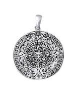 925 Sterling Silver Mayan Maya Aztec Inca Historic 2012 Calendar Large P... - $57.77