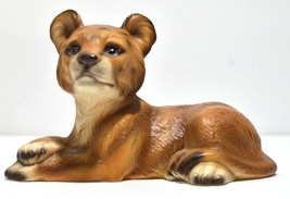 Lion Cub Figurine Porcelain Zoo Wild Cat Safari UCAGCO UCGC Japan Vintag... - $19.34