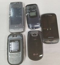 VN150 Revere, Voyager, U640 Convoy,U820 Reality, CDM7076 Cell Phone Lot AS-IS - $22.97