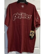 MLB Philadelphia Phillies Embroidered T Shirt  Applique  Men's Size XL NEW - $29.65