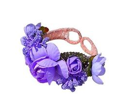 1 Pair Of Lovely Purple Rose Beach Bracelets Lace Bracelets Jewelry