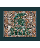 Michigan State Photo Mosaic Print Art Created Using Past and Present Pla... - $25.00