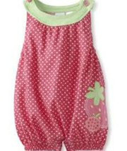 6-9 Months Baby Togs Baby Girls Infant Pink Strawberry Romper   - $20.00