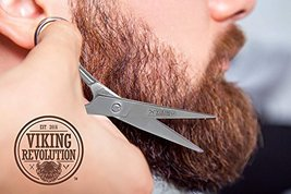 BEST DEAL Beard and Mustache Scissors w/Comb and Synthetic Leather Case Professi image 3