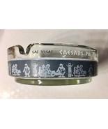 Vintage Caesars Palace Las Vegas Glass Cigarette Ashtray (blue w white l... - £7.27 GBP