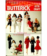 "Doll Clothing Patterns Butterick 6170 11-1/2"" Fashion Dolls Doll Pattern - $18.99"