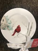 Ciroa Luxe Celebration Cardinal Bird Christmas Set of 8 Tid Bid Plates ~... - $59.99