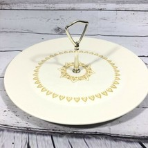 Sheffield Pottery Serenade Round Ribbed Tid Bit Serving Tray Vintage EUC 12.5 In - $24.74
