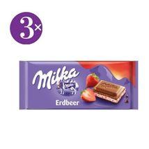 3x Milka Strawberry and Yogurt Chocolate bars (100g) - Ships from Germany - $11.90