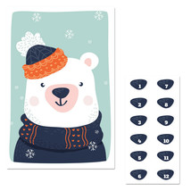 Winter Bear Pin The Nose Christmas Party Game - $21.29