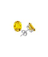 Women's 4 Ct Twt Citrine Earrings in 14k Gold - $459.00