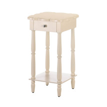 Side Table, Wooden Coffee Side Table, Chatham White Side Table With Drawers - £109.73 GBP