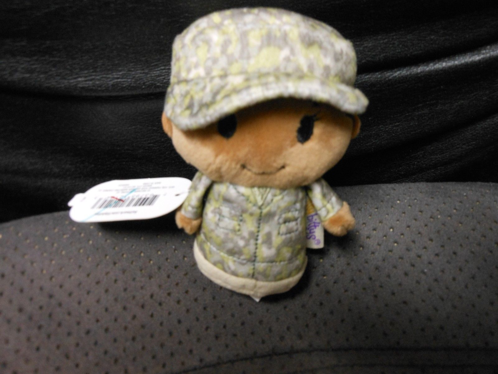 "Primary image for Hallmark Itty Bitty's ""Military Camo Girl African American Green"" 2016 NEW TAG"