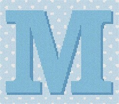 pepita Polka Dot Letter M Needlepoint Kit - $70.00
