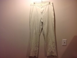 Lands End Off White Casual Slacks Khakis Sz 12
